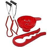 com-four® Glasheber für heiße Einkochgläser und Einmachgläser - für Sturzgläser jeglicher Größe - ideale Hilfe beim Einmachen - verchromt (Glasheber 19 cm - 01 Stück)