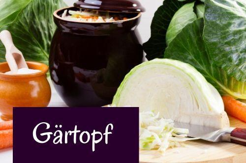 Gärtopf für selbstgemachtes Sauerkraut