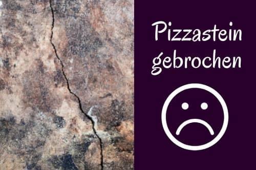 Pizzastein gebrochen