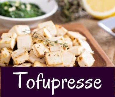 Tofupresse – für richtig geilen Tofu!