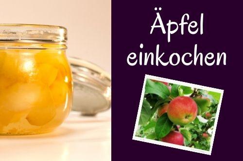 Äpfel einkochen